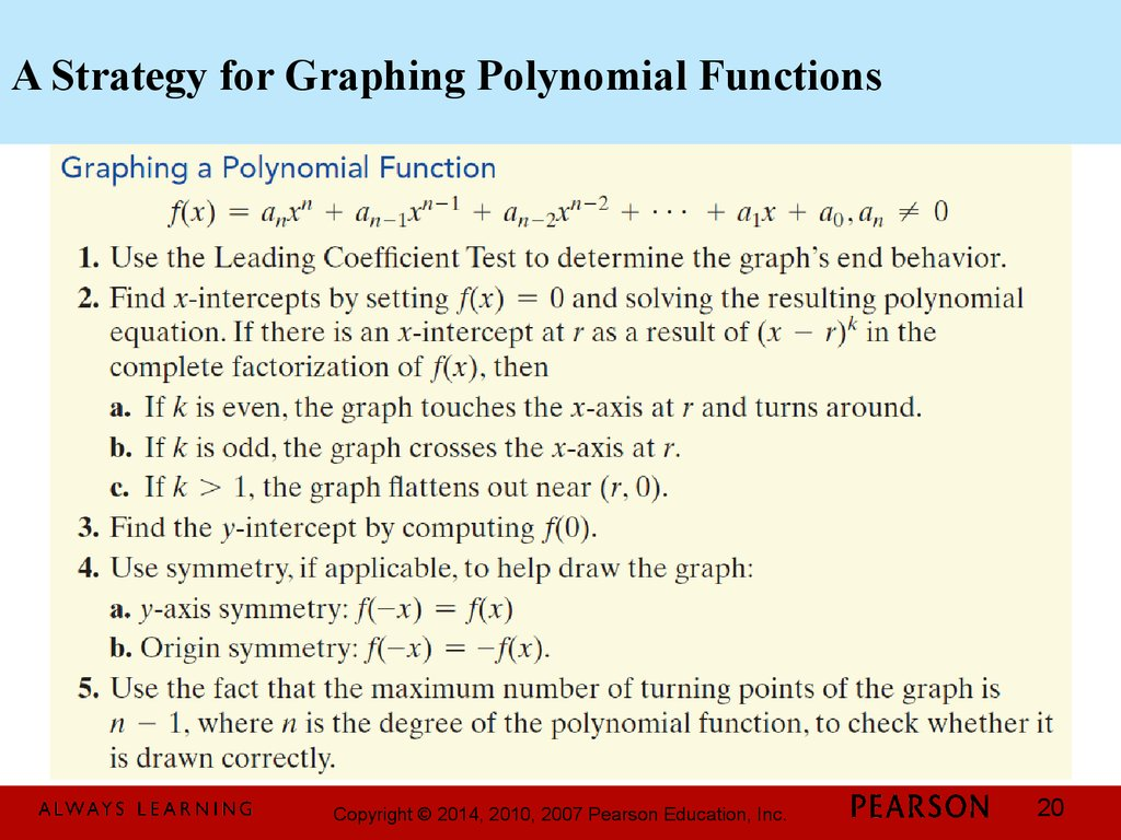 A Strategy for Graphing Polynomial Functions