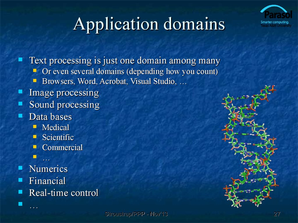 Application domains