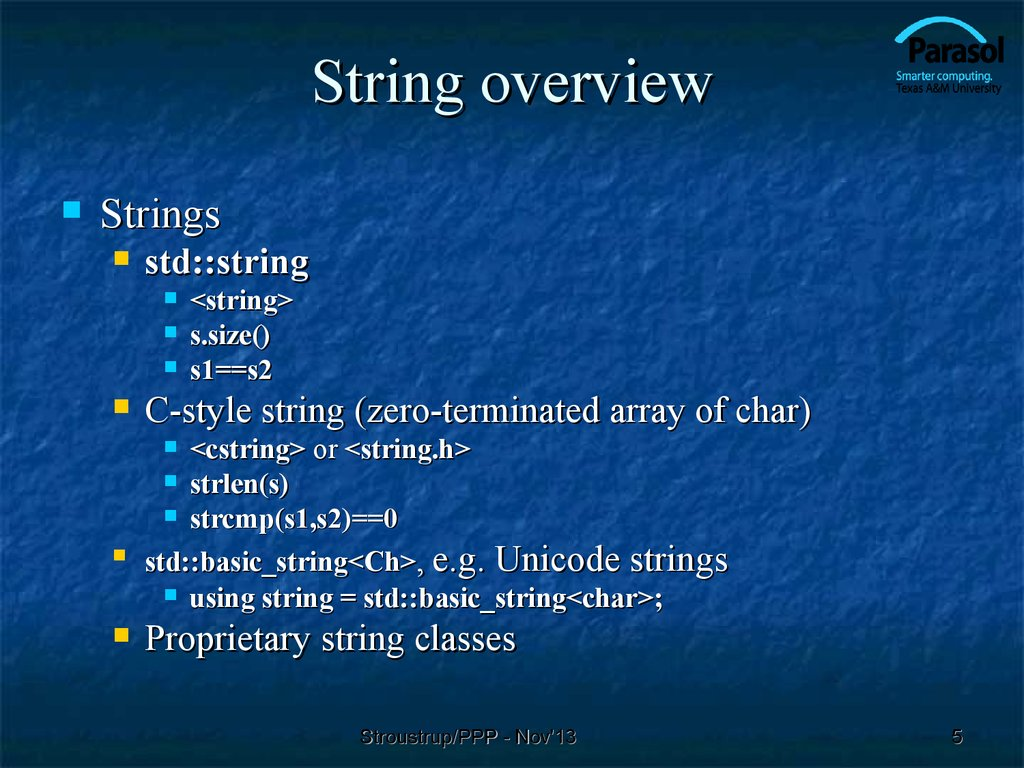 String overview