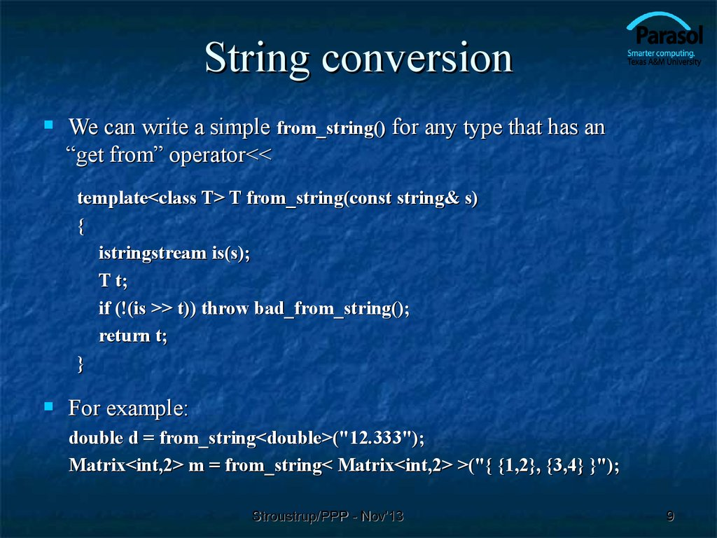 String conversion