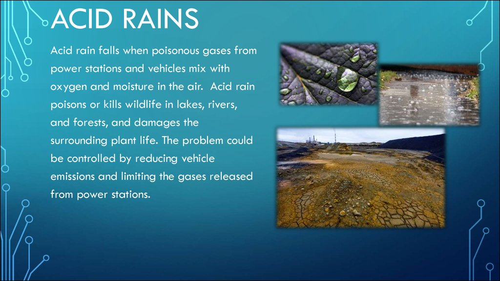 acid rain formation Acidity of polluted rainwater unfortunately, human industrial activity produces additional acid-forming compounds in far greater quantities than the natural sources.