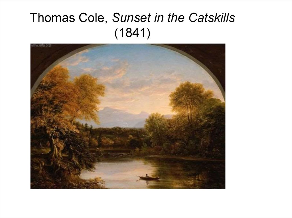Thomas Cole, Sunset in the Catskills (1841)‏