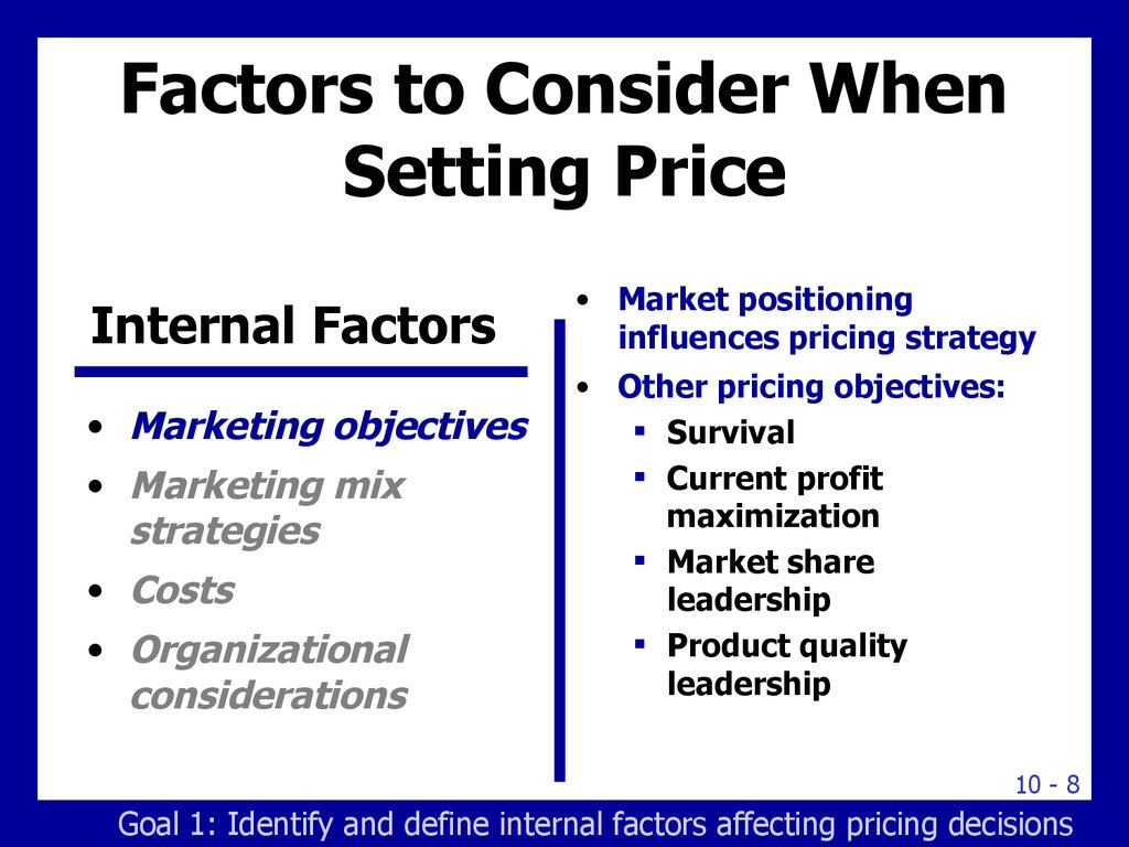 factors in consideration when deciding order