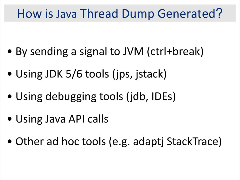 Java Troubleshooting and Diagnostic - online presentation