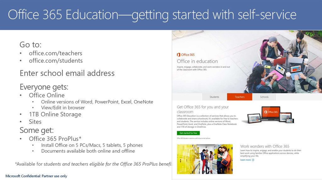 Office 365 Education—getting started with self-service