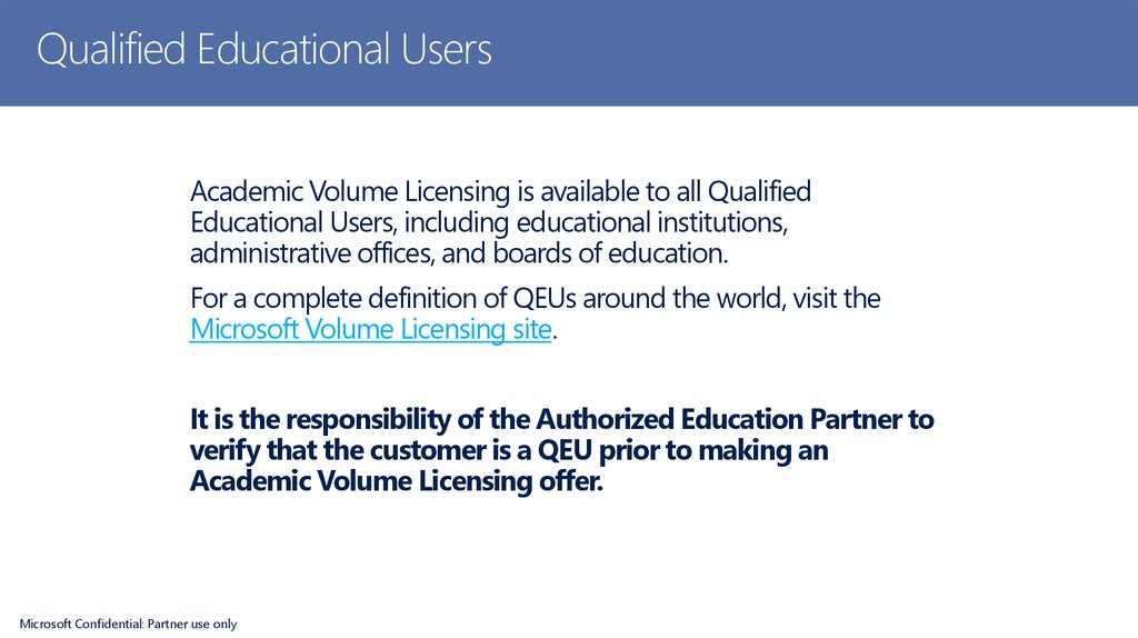 Qualified Educational Users