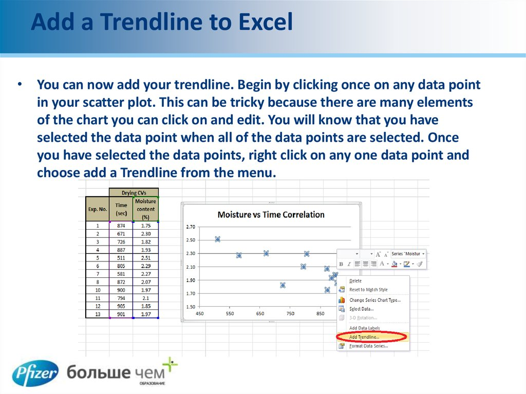 Add a Trendline to Excel