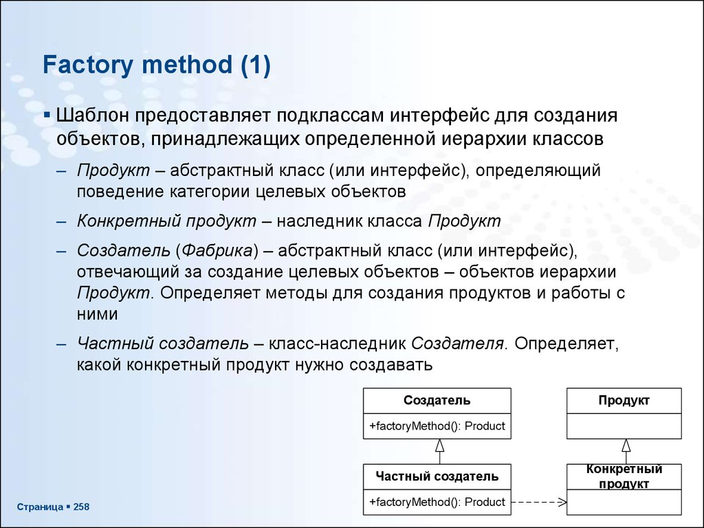 Factory method (1)
