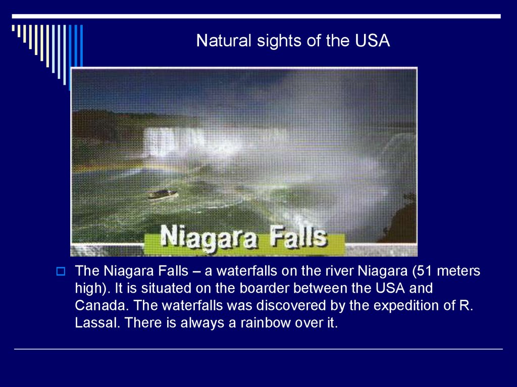 Natural sights of the USA