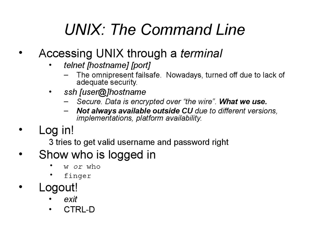 UNIX: The Command Line
