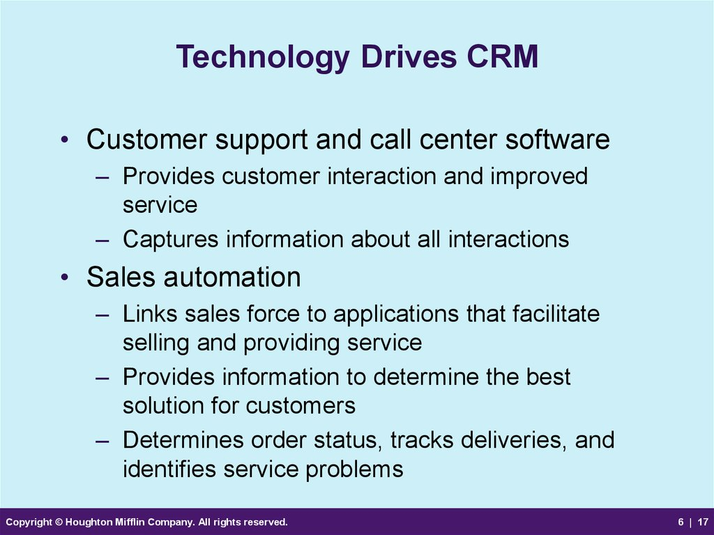 Technology Drives CRM
