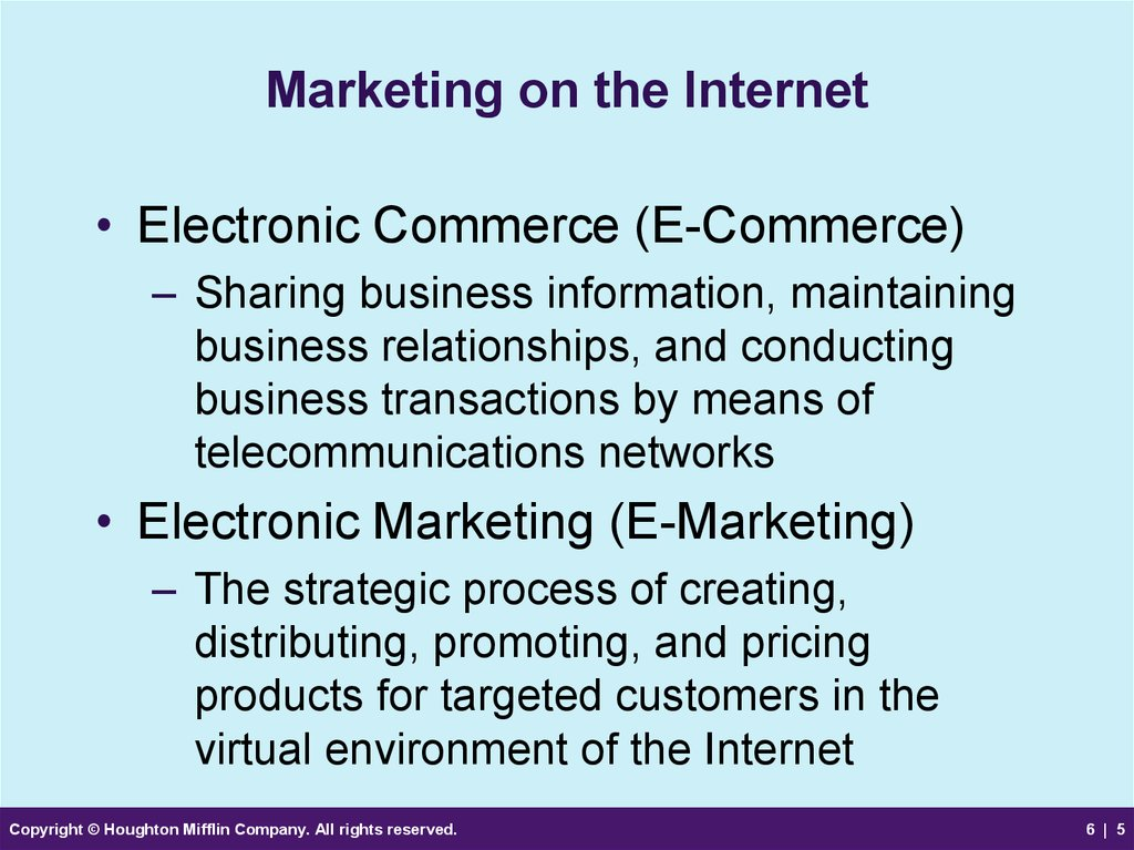 Marketing on the Internet