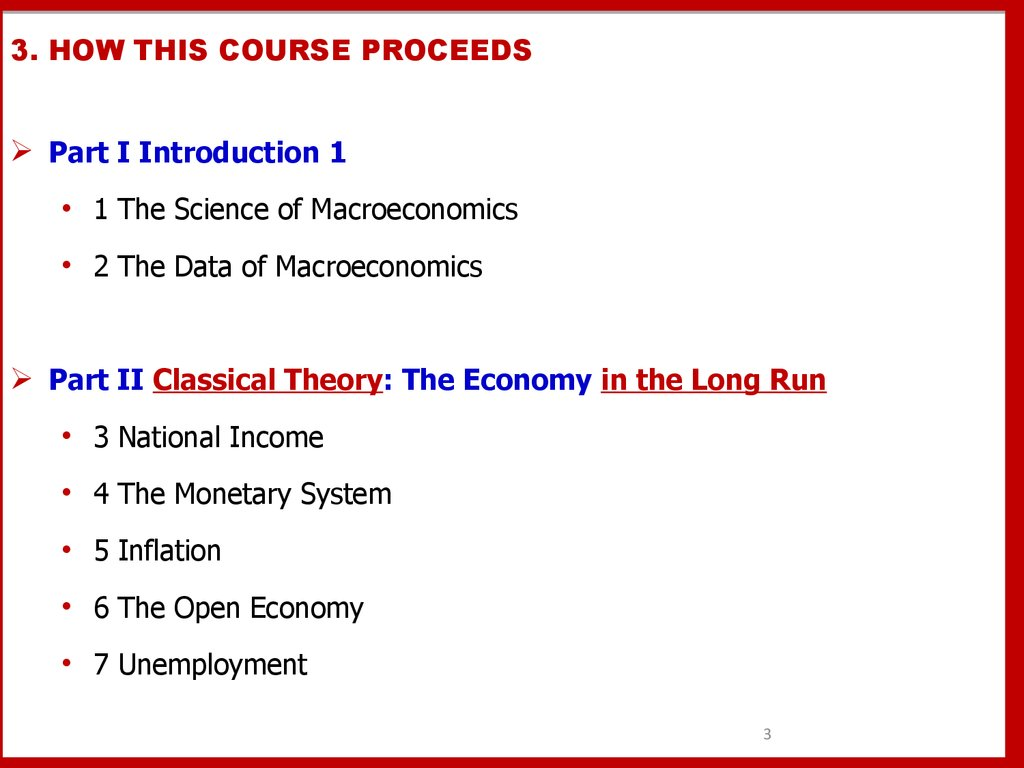 3. HOW THIS COURSE PROCEEDS