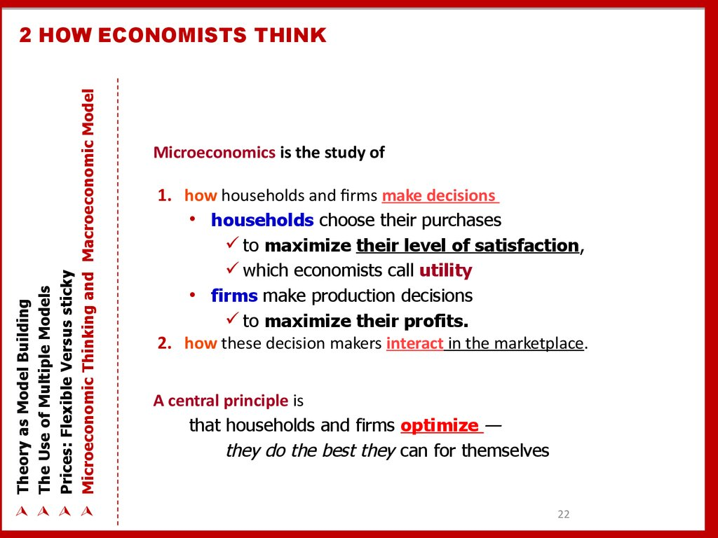 2 HOW ECONOMISTS THINK