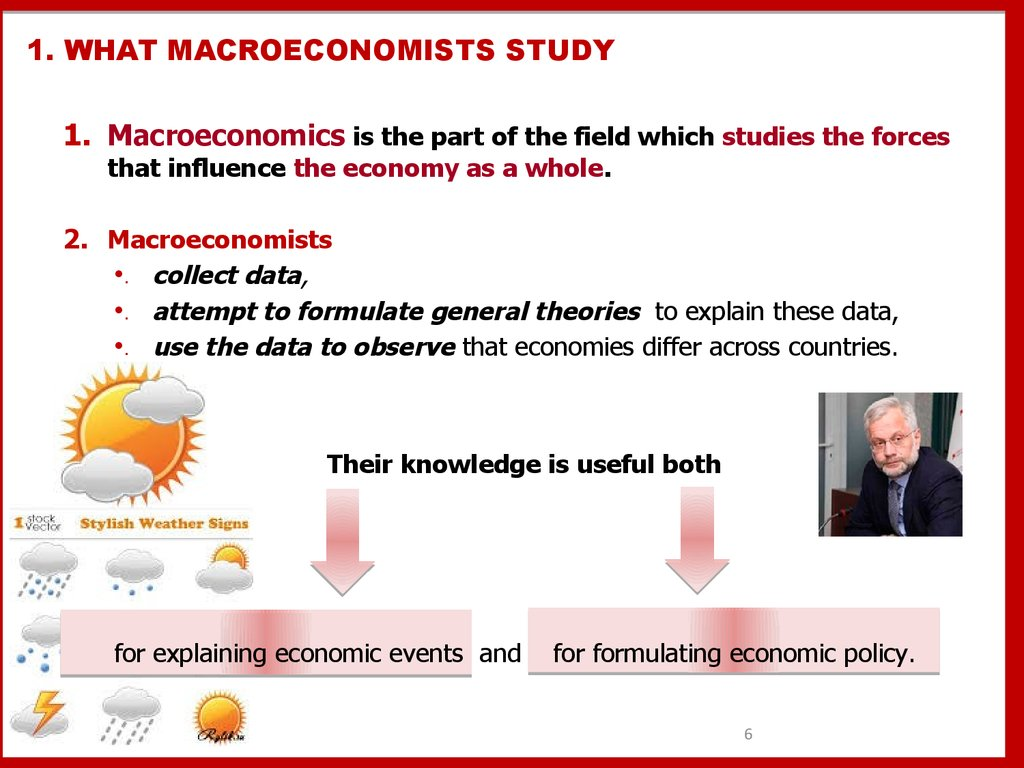 1. WHAT MACROECONOMISTS STUDY