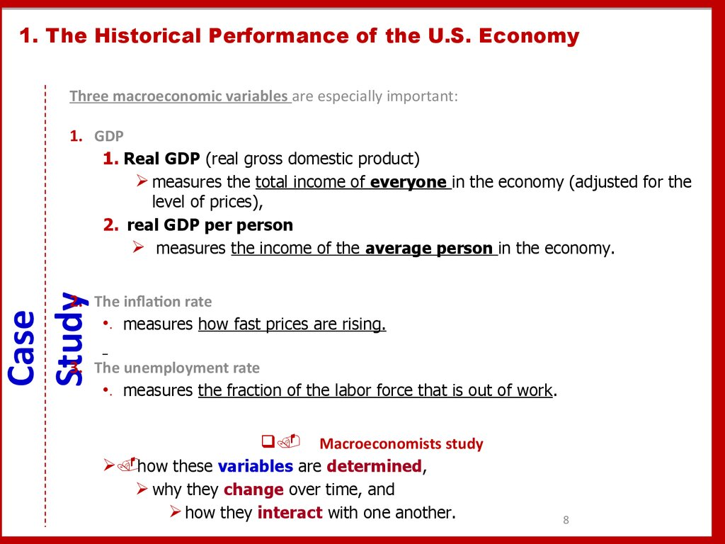 1. The Historical Performance of the U.S. Economy