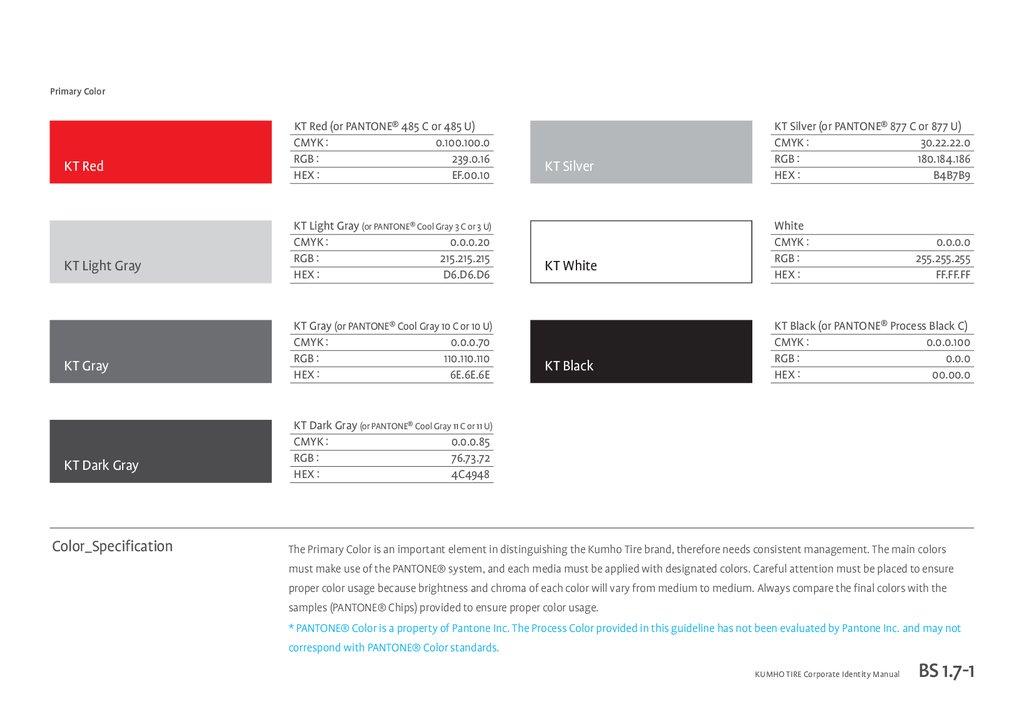 KUMHO TIRE Corporate Identity Manual(eng) - online presentation