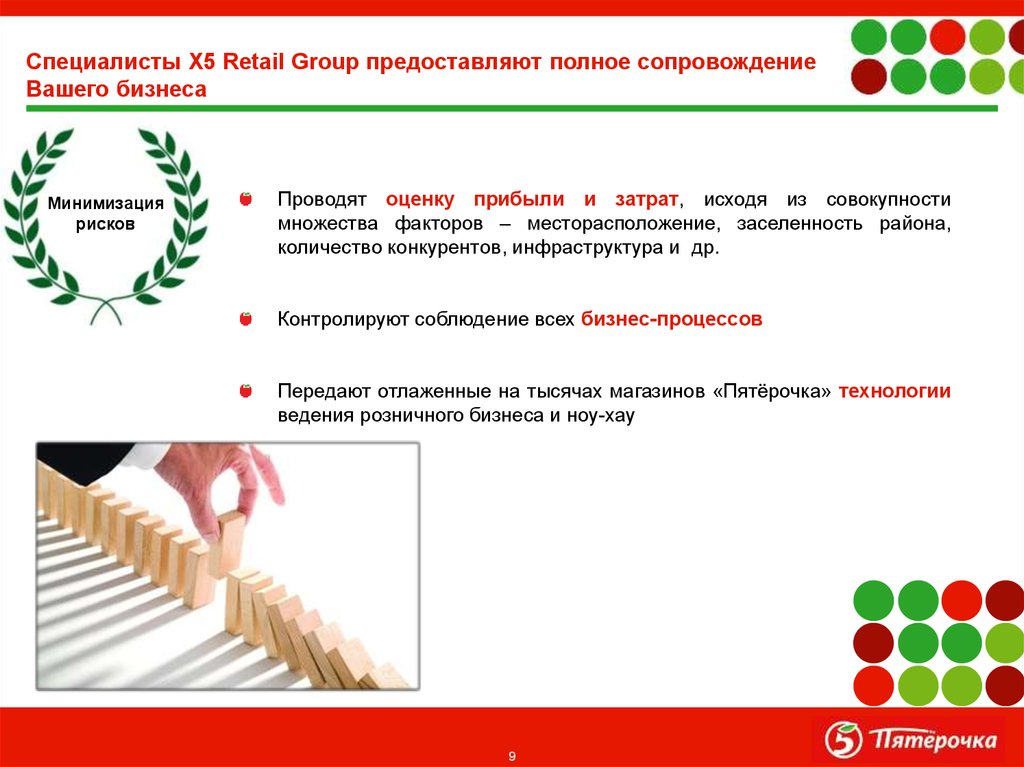 Специалисты X5 Retail Group предоставляют полное сопровождение Вашего бизнеса