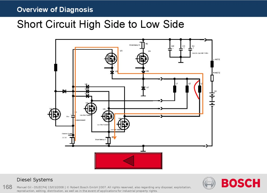 Short Circuit High Side to Low Side