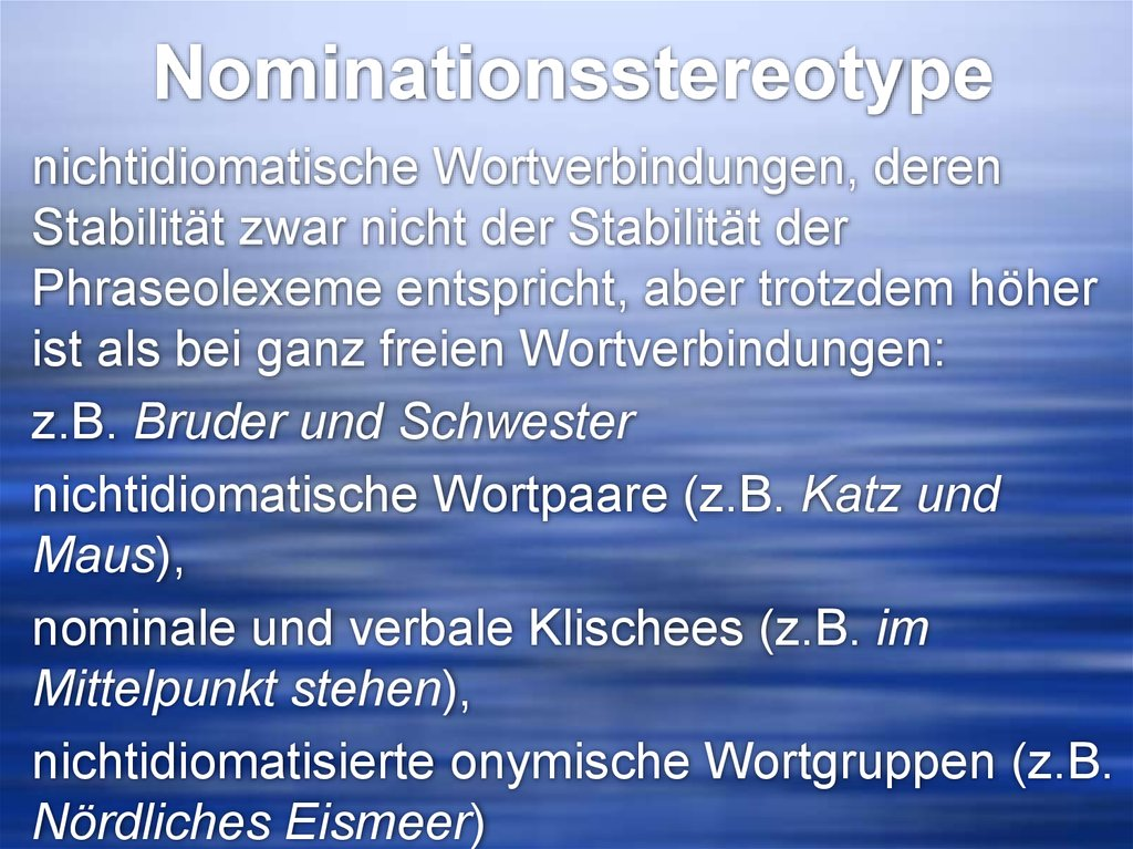 Nominationsstereotype
