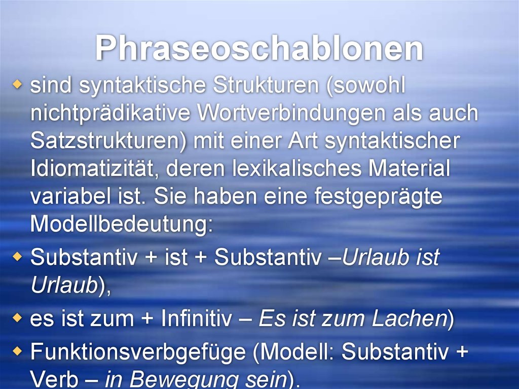 Phraseoschablonen