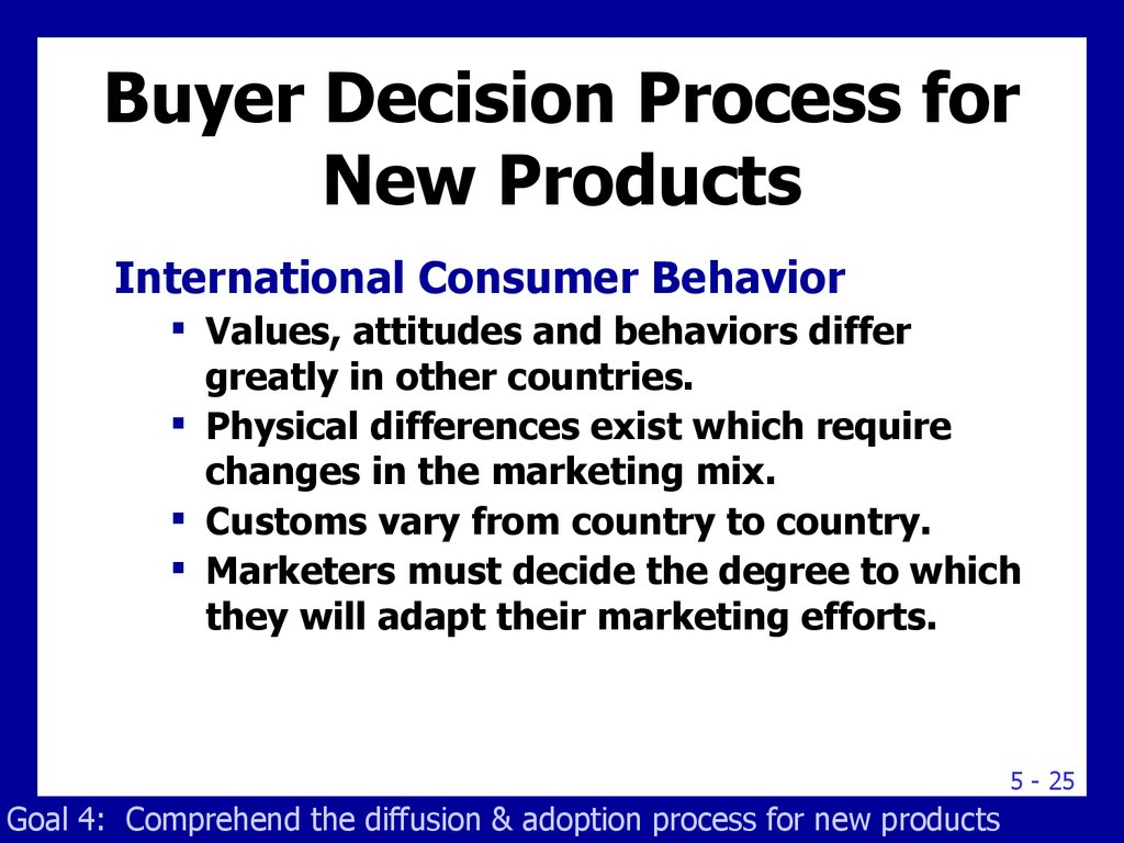 Buyer Decision Process for New Products