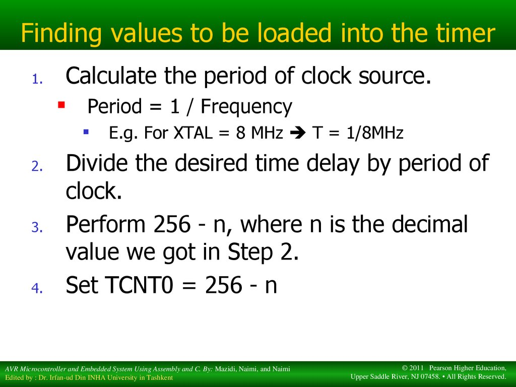Timer-counter  The AVR microcontroller and embedded systems