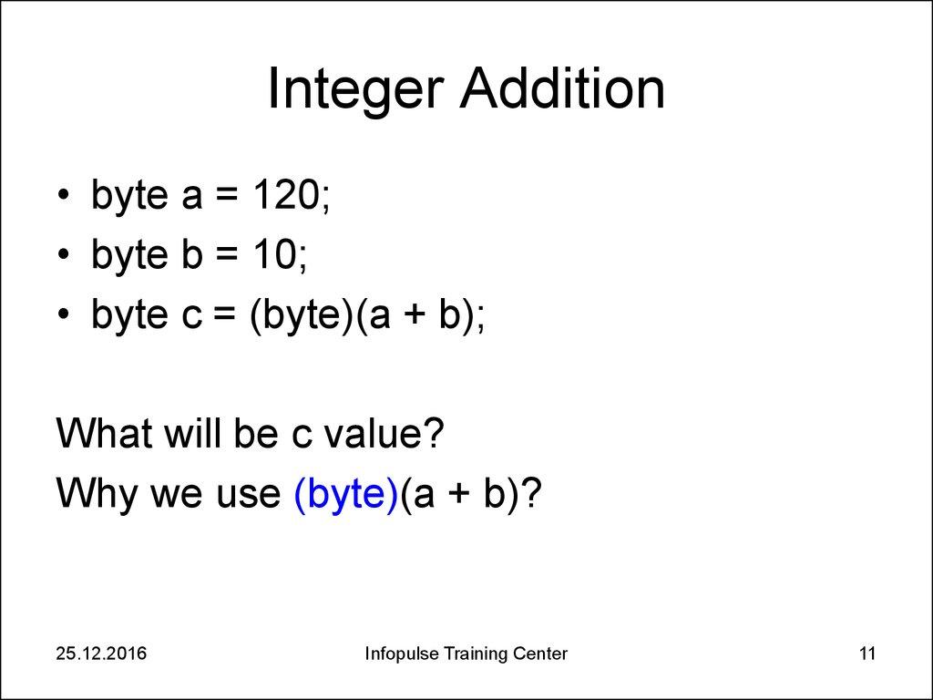 2  Java Basics  Data Types - online presentation