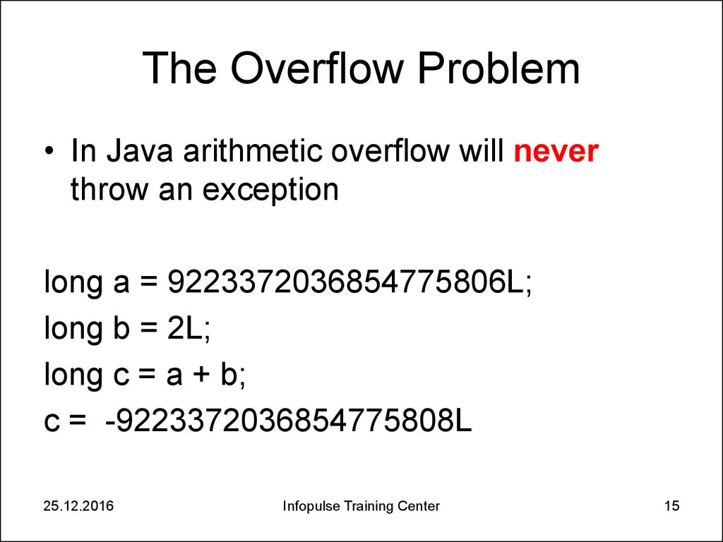 The Overflow Problem