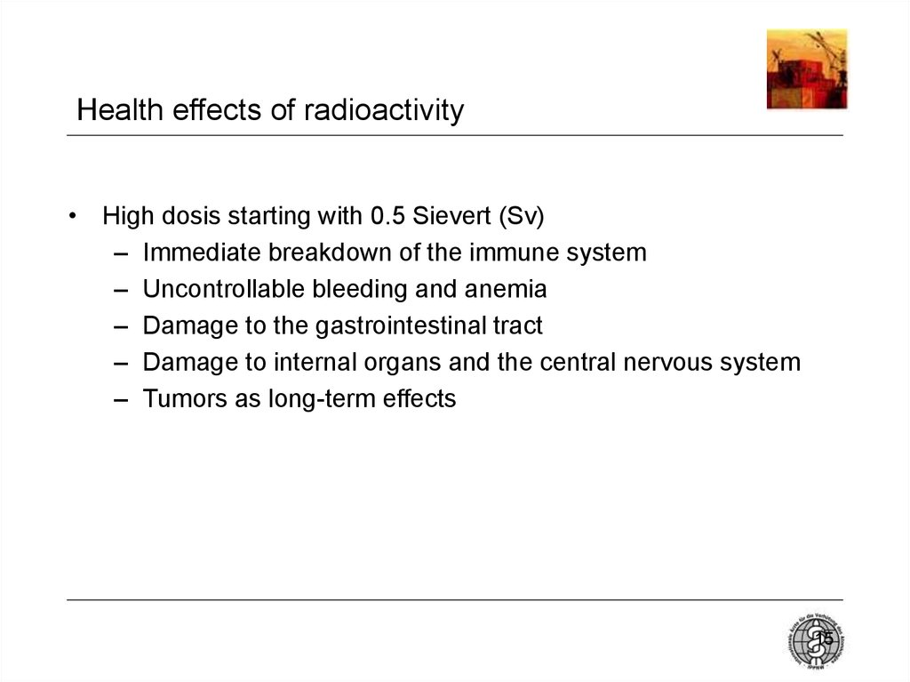 Health effects of radioactivity