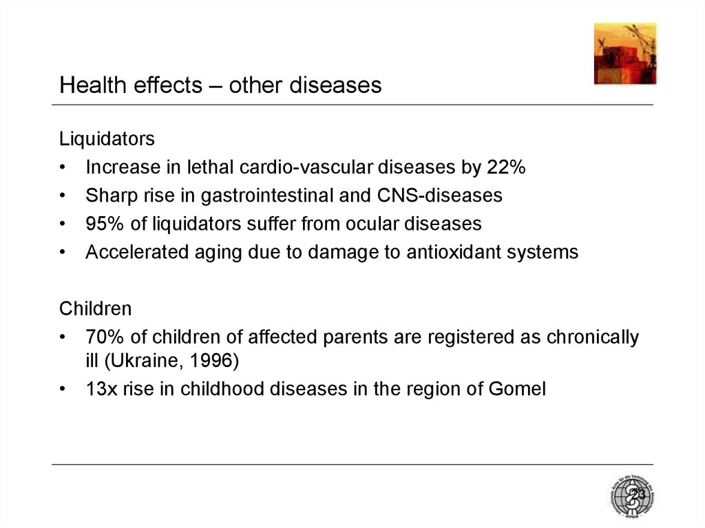 Health effects – other diseases
