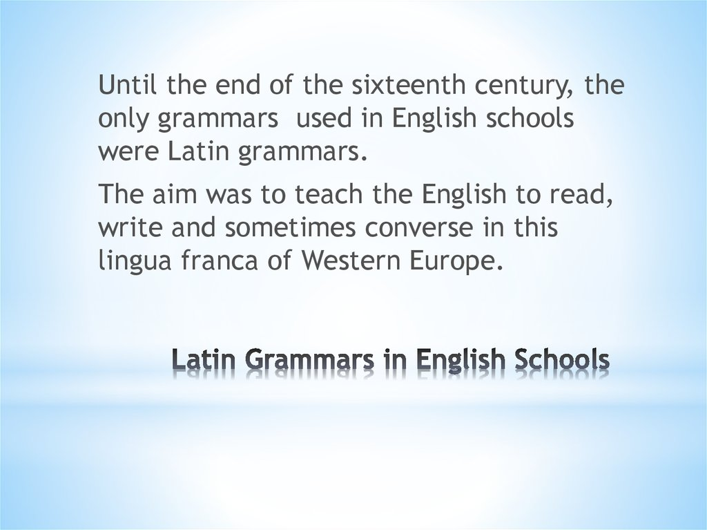 Latin Grammars in English Schools
