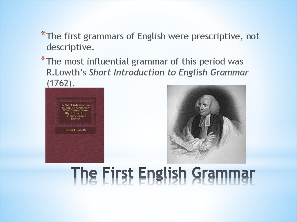 The First English Grammar