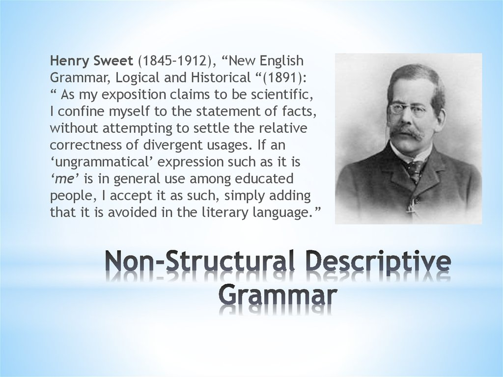 Non-Structural Descriptive Grammar