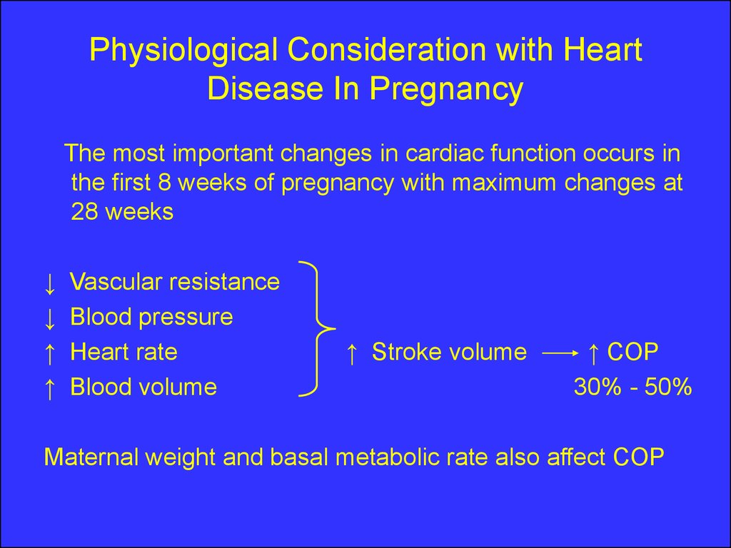 Cardiovascular disease In pregnancy - презентация онлайн