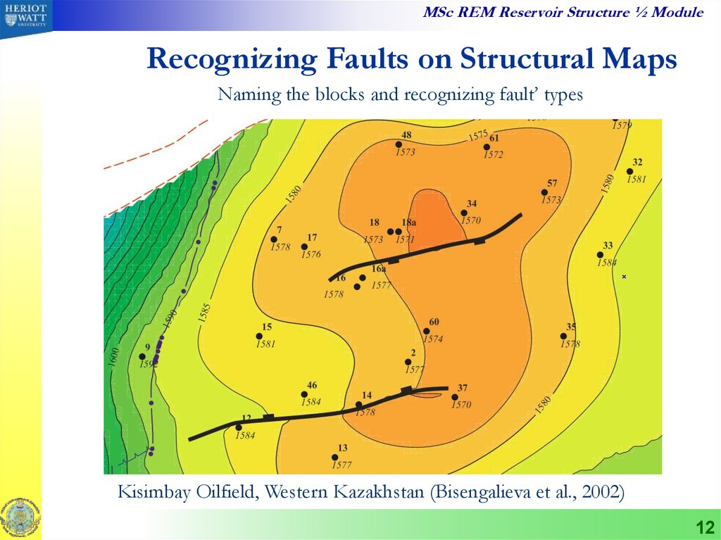 Recognizing Faults on Structural Maps
