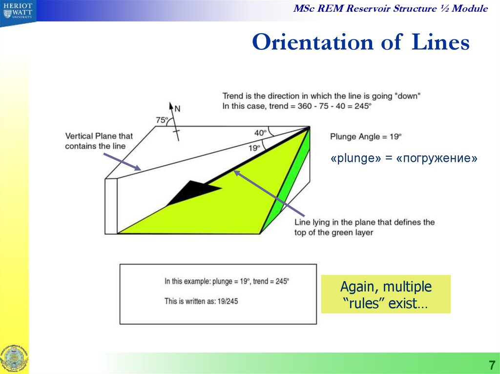 Orientation of Lines