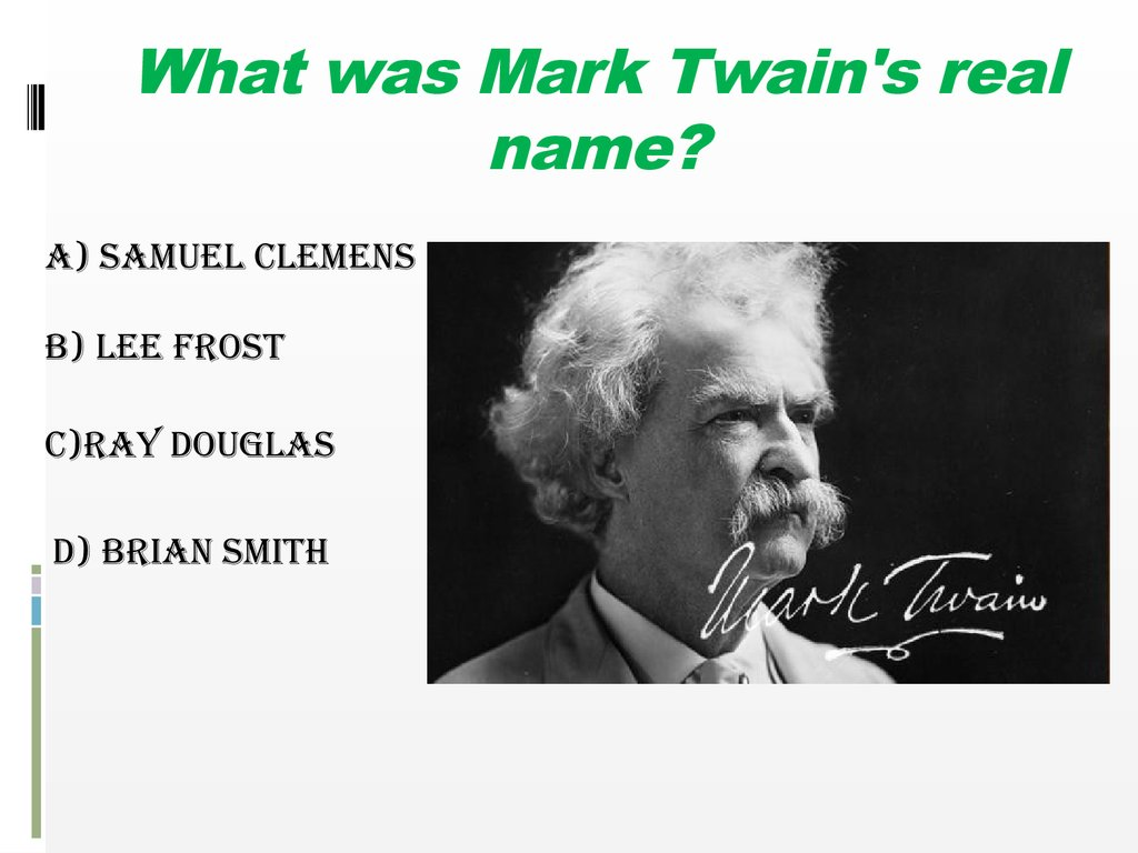What was the real name of Mark Twain