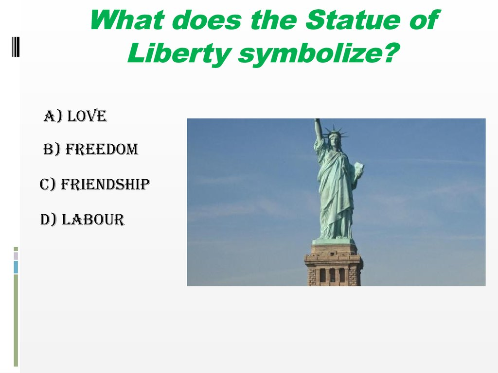 Do you know the usa what does the statue of liberty symbolize biocorpaavc