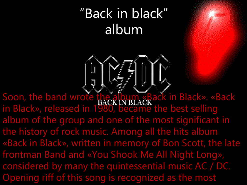 """Back in black"" album"