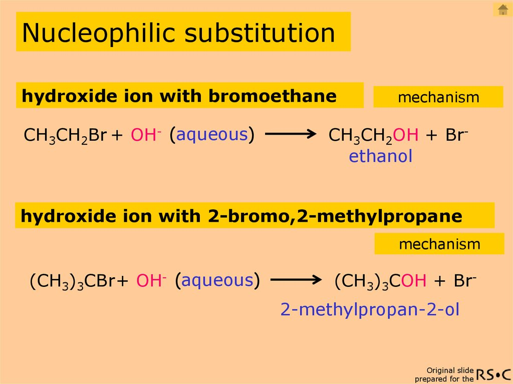 nucleophilic substitution Aromatic substitution reactions electrophilic nucleophilic  two types of mechanisms that operate in nucleophilic substitutions are, 1 addition-elimination 2.
