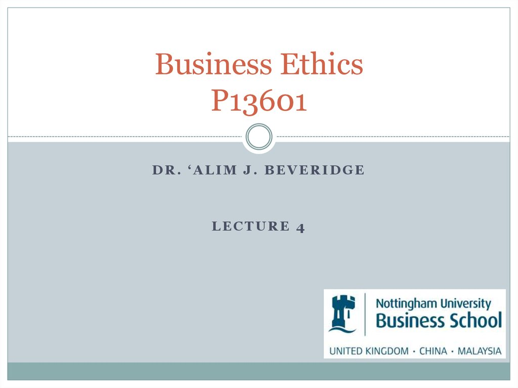Business Ethics P13601