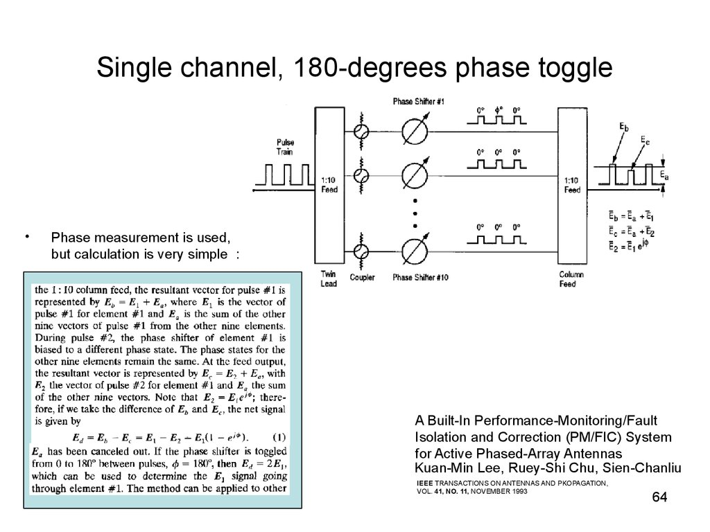 Single channel, 180-degrees phase toggle