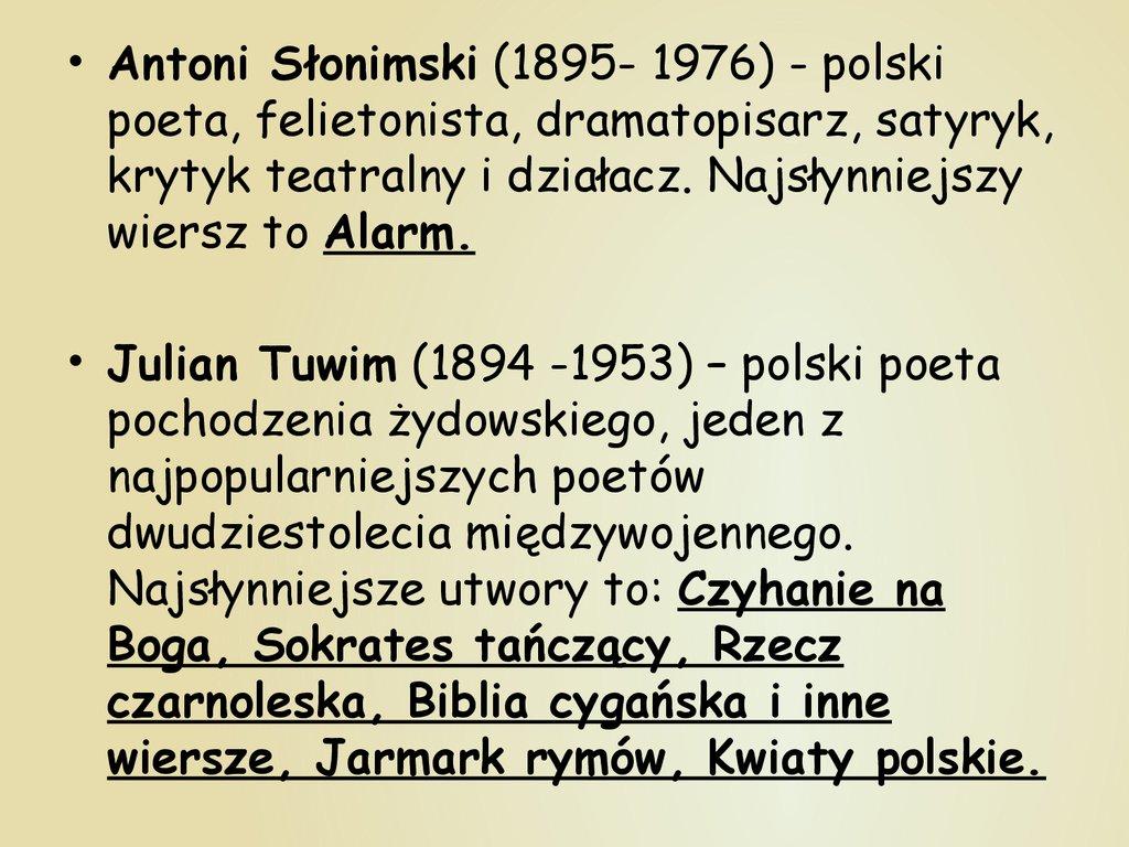 Najsławniejsi Polscy Pisarze I Poeci Online Presentation