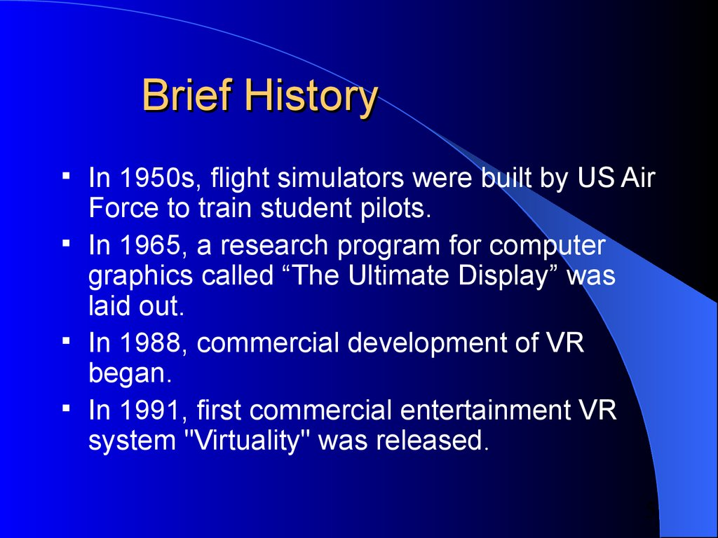 Virtual reality online presentation 5 brief history freerunsca Choice Image