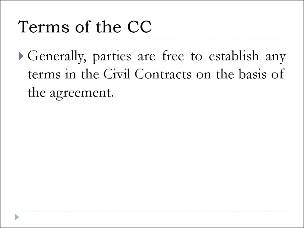 Terms of the CC