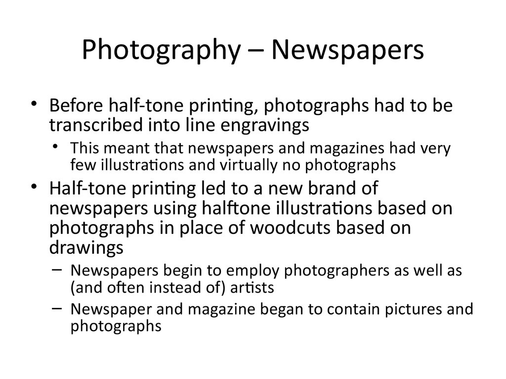 Photography – Newspapers