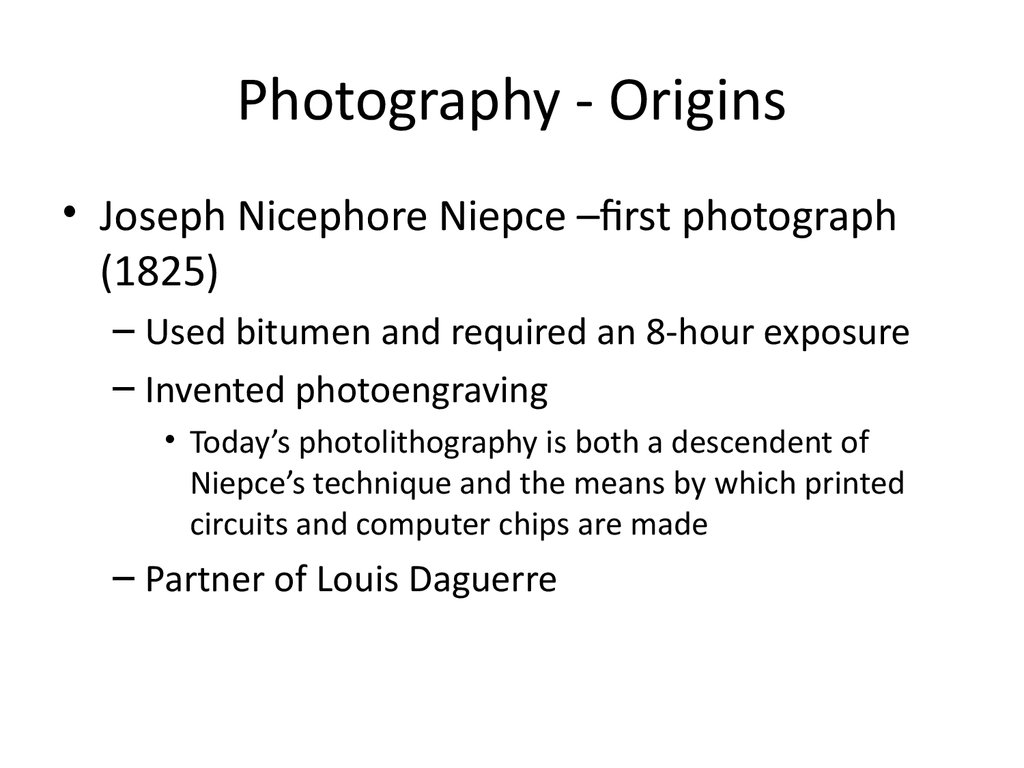 Photography - Origins