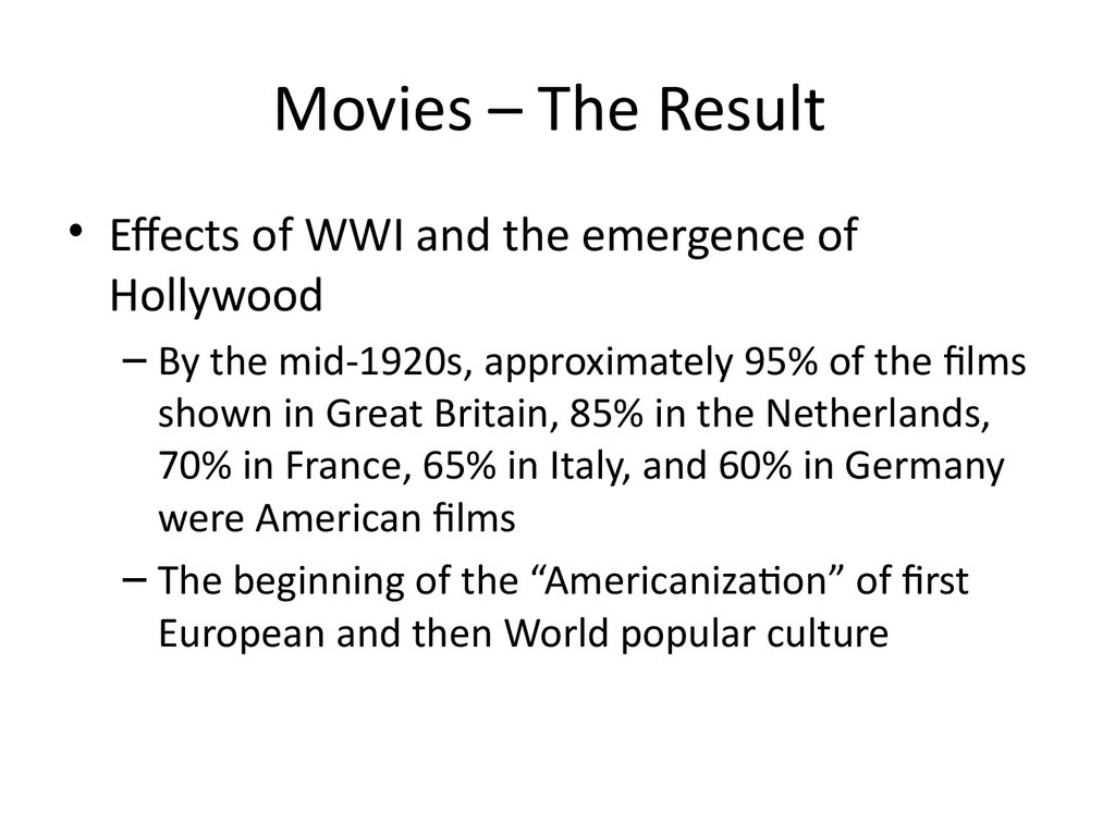 Movies – The Result