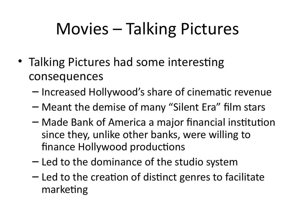 Movies – Talking Pictures